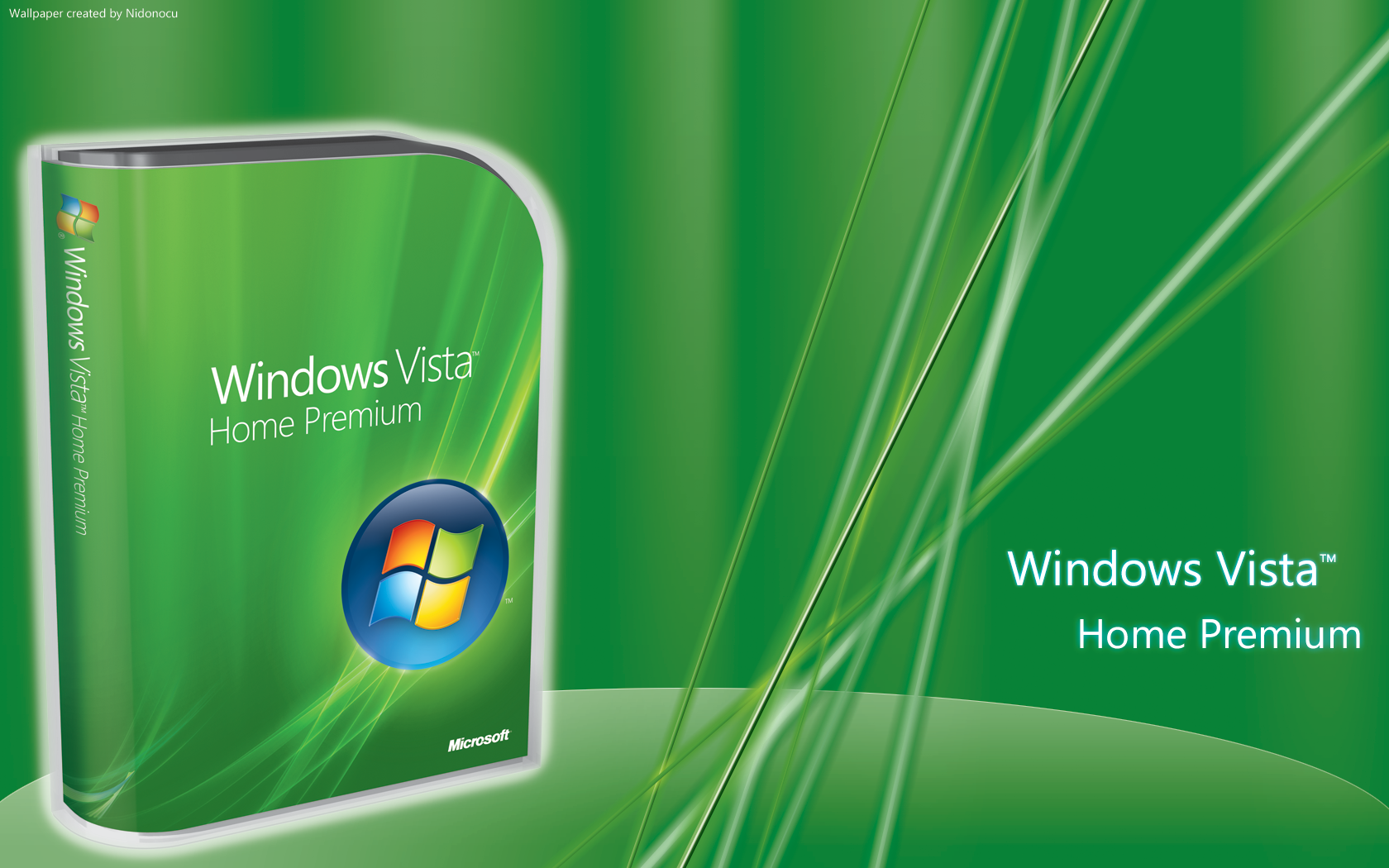 widescreen vista green windows